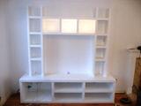 white Colchester bespoke alcove cabinets  in cambridge