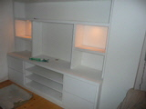 floating wall storage shelving